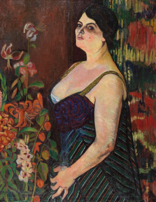 Suzanne Valadon. Portrait of a woman with a bouquet