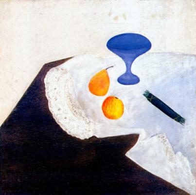 Штеренберг. Натюрморт с голубой вазой