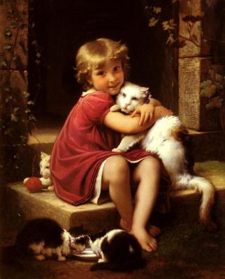 Жан Леон Базиль Перро. Любимая кошка