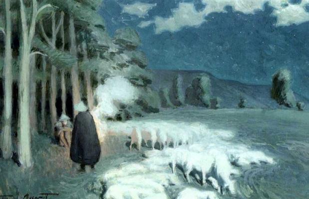 Виктор Эльпидифорович Борисов-Мусатов. Пастухи, пасущие за стадо ночью