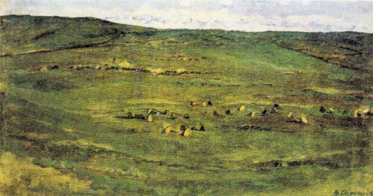 Василий Иванович Суриков. Табун лошадей в Барбинской степи