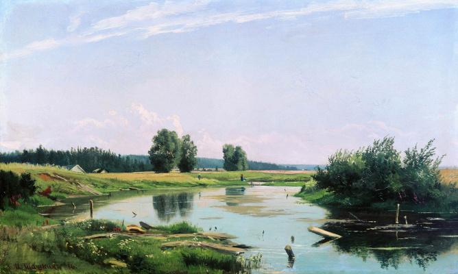 Ivan Ivanovich Shishkin. Landscape with a lake