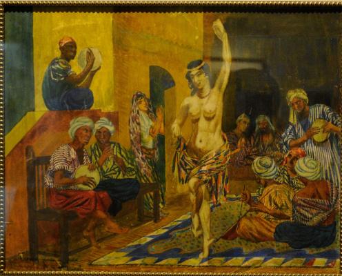 Николай Афанасьевич Русаков. Багдад. Танец альмеи.