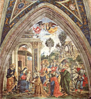 Pinturicchio. Worship the baby