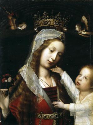 Ян Провост. Мадонна с младенцем