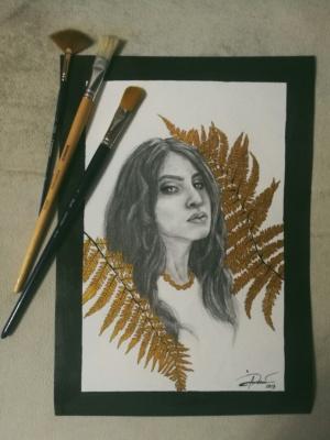 Liana Kvyshko. Portrait of maria