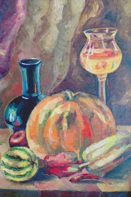 Margarita Vadimovna Pichugina. Still Life with Pumpkin
