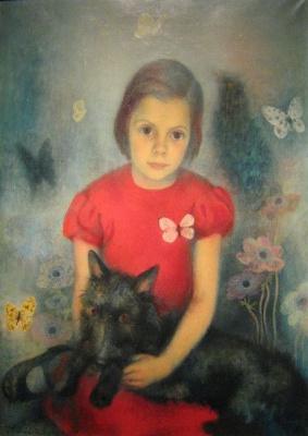 Павел Федорович Челищев. Девочка с бабочкой