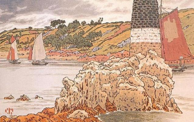 Анри (Henri) Ривьер (Rivière). Радиомаяк в Триё (La Balise sur le Trieux)