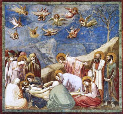 Giotto di Bondone. The lamentation of Christ (Scenes of the life of Christ)