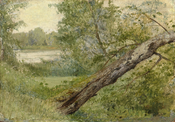 Isaac Levitan. Tree on the lake