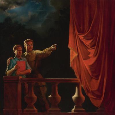 """Vitaly Komar. """"What to do"""". Series """"Nostalgia for Socialist Realism"""""""