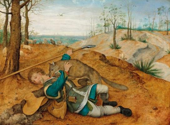 Peter Brueghel The Younger. The good shepherd