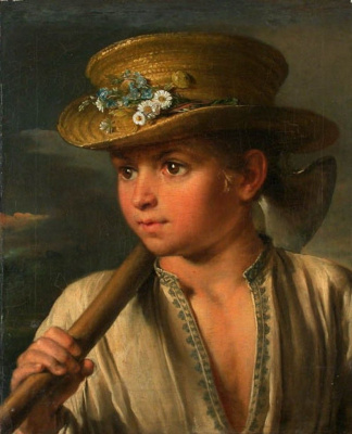 Vasily Andreevich Tropinin. A boy with a hatchet