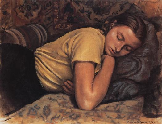 Zinaida Serebryakova. Sleeping Kate