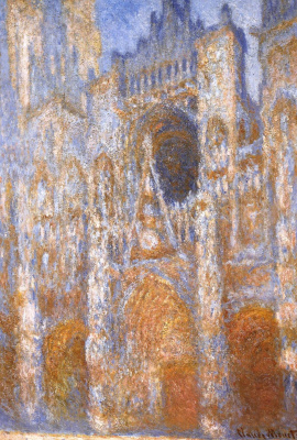Claude Monet. Rouen Cathedral, the main entrance in the middle of the day