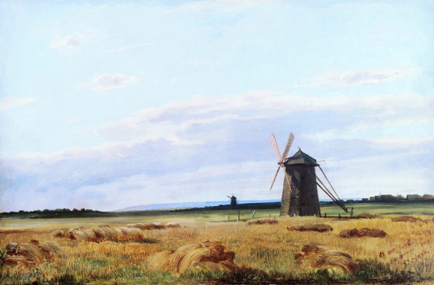 Ivan Ivanovich Shishkin. Windmill in the field