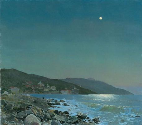 Dmitry Belukin. Moonlit night on mount Athos