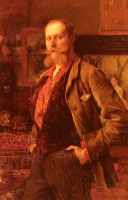Паскаль Адольф Жан Даньян-Бувре. Портрет Густава Куртуа