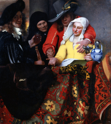 Jan Vermeer. The Procuress