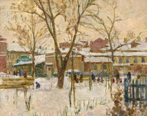 Alexey Semenovich Aizenman. Moscow courtyard
