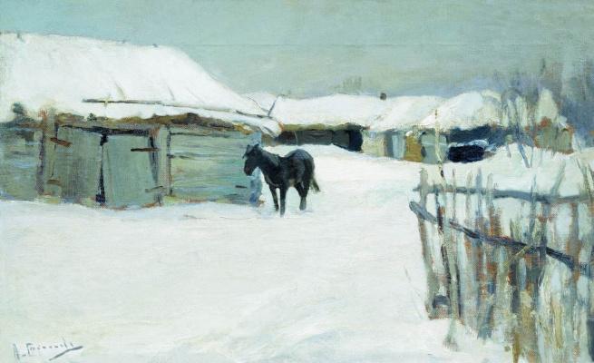 Алексей Степанович Степанович (1858-1923). Деревня зимой. 1890-е