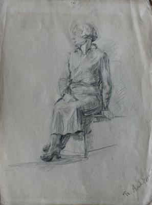 Petr Filippovich Alberti. Portrait of a lady