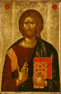 Masterpieces of unknown artists. Christ Pantokrator
