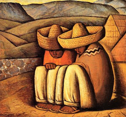 Alfredo Ramos Martinez. Two friends