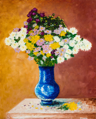 Arina Yuryevna Yastrebova. Still life with flowers