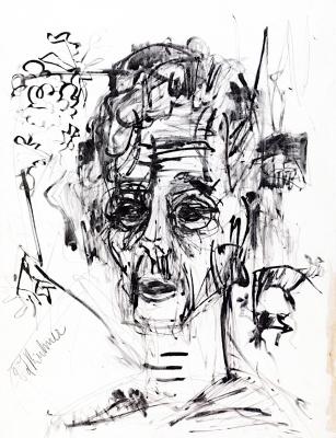 A self-portrait. (Morphine)