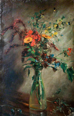 John Constable. Flowers in a glass vase. Etude