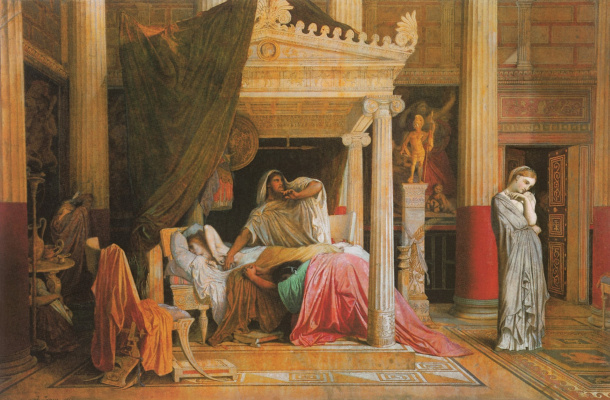 Jean Auguste Dominique Ingres. Antiochus and stratonice (sketch)