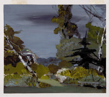 "Dmitry Dmitrievich Bushen. Landscape - a sketch for ""Eugene Onegin""."
