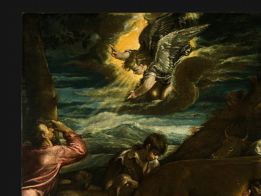 Jacopo da Ponte Bassano. News to the shepherds