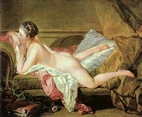 Francois Boucher. White odalisque