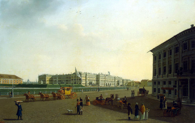 Benjamin Patersen. View of the Palace square and the Winter Palace