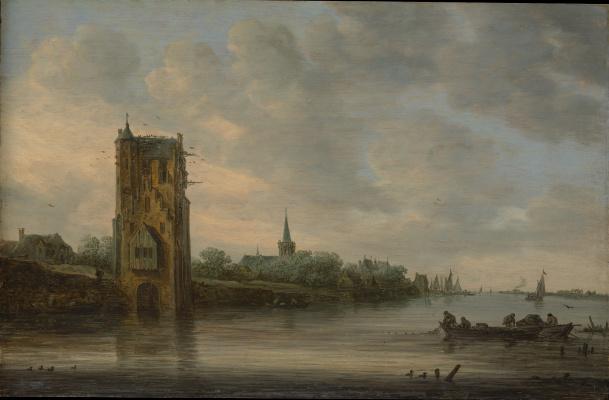 Ян ван Гойен. Ворота Пелкуса около Утрехта