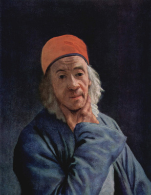 Jean-Etienne Lyotard. Self-portrait
