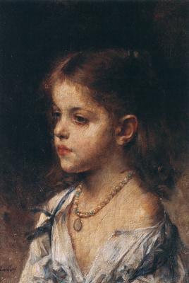 Alexey Alekseevich Kharlamov. Portrait of a girl. 1904