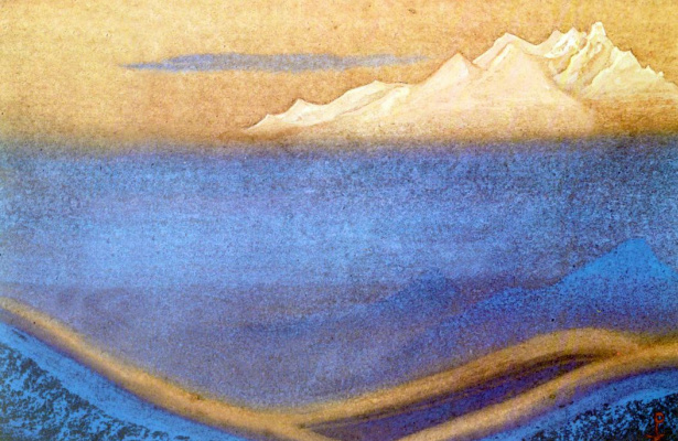 Nicholas Roerich. The Himalayas (Burning up)