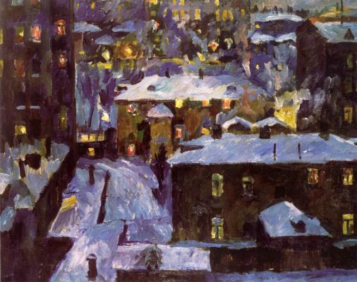 Aristarkh Vasilyevich Lentulov. Night at Patriarshiye ponds