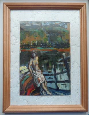 Alexander Sukhanov Gennadyevich.. Woman on the shore