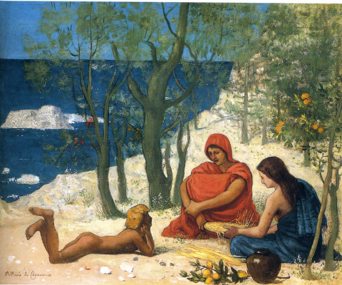 Pierre Cecil Puvi de Chavannes. Rest on the shore