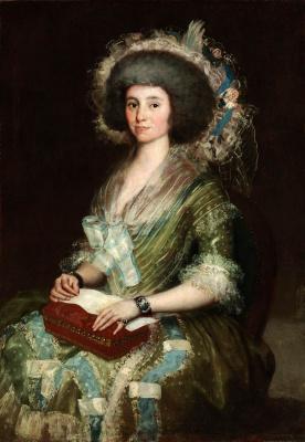 Francisco Goya. A portrait of seniors Kean bermúdez, wife of Juan Bermudez Agostino