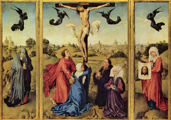 Rogier van der Weyden. Triptych Crucifix