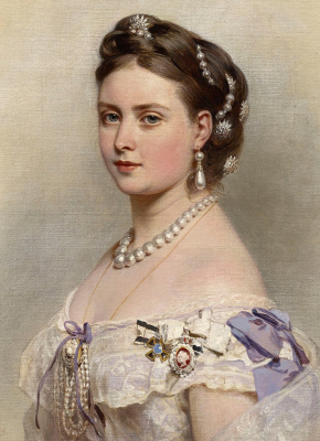 Franz Xaver Winterhalter. Victoria, Princess Royal, crown Princess of Prussia. Fragment