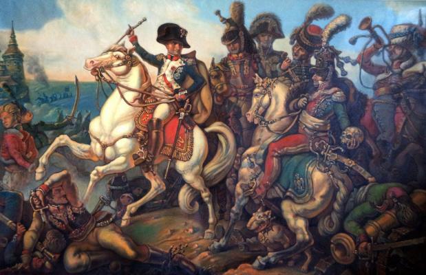 Daniil Litvinov. Наполеон при Аустерлице.Холст, масло.
