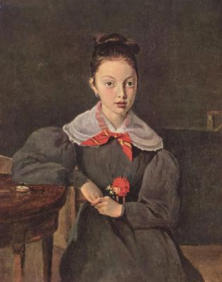 Camille Corot. Portrait of Octavia Sennegon