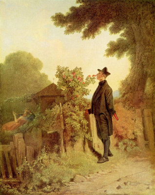 Karl Spitzweg. The memory of the scent of roses
